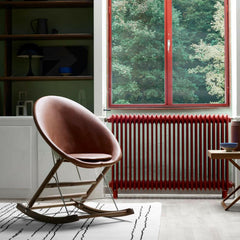 Anker Bak Nest Rocking Chair Leather in Room Carl Hansen and Son