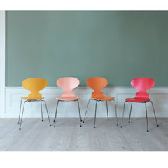 Ant Chairs in Colors by Tal R in Room Fritz Hansen Arne Jacobsen