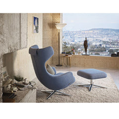 Antonio Citterio Grand Repos and Ottoman Grey Blue in Situ Vitra
