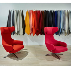 Vitra Grand Repos Lounge Chairs with Fabric Swatches