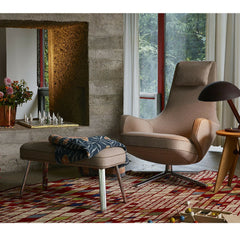 Antonio Citterio Repos and Panchina Ottoman Camel Brown in Room Vitra