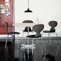 Arne Jacobsen Ant Chair Black Ash Dining Room Fritz Hansen