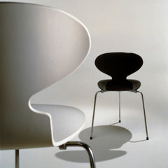 Arne Jacobsen Ant Chair Black White Fritz Hansen
