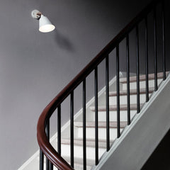 Arne Jacobsen AJ9 Wall Lamp in Stairwell And Tradition Copenhagen
