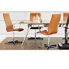 Elegance Leather Arne Jacobsen Oxford Chairs in Conference Room Fritz Hansen