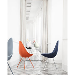 Arne Jacobsen Drop Chairs in Hall Fritz Hansen Palette and Parlor