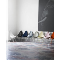 Arne Jacobsen Drop Chair Collection in Room Fritz Hansen Palette and Parlor