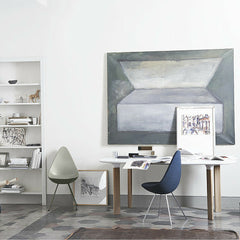 Drop Chairs in Home Office with Analog Table Fritz Hansen