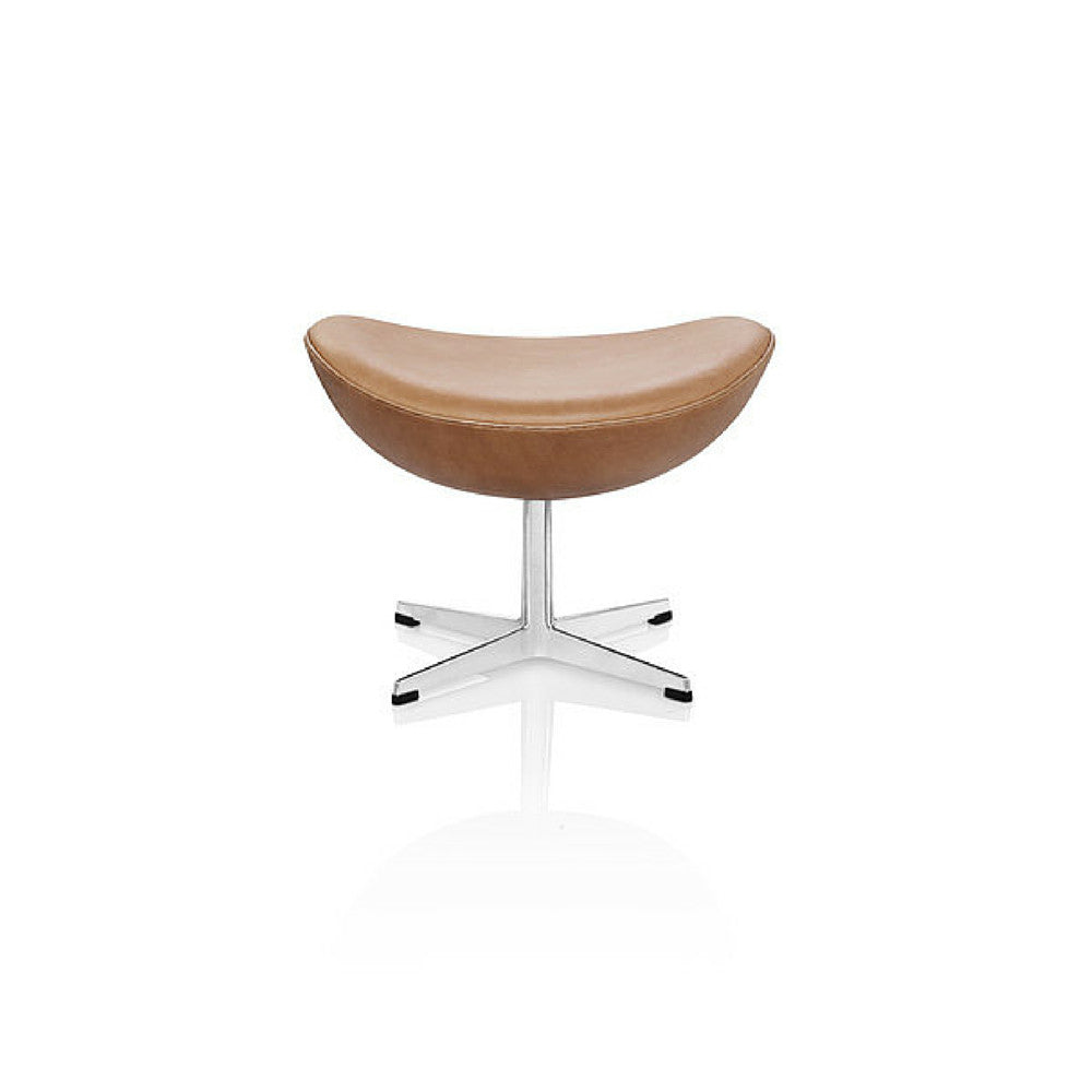 Arne Jacobsen Egg Footstool Ottoman Elegance Leather Walnut Fritz Hansen