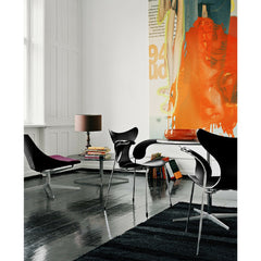 Arne Jacobsen Lily Arm Chairs in Room with Art Fritz Hansen