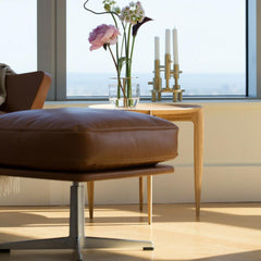 Arne Jacobsen Oksen Footstool in Situ at Royal Danish Consulate with Fritz Hansen Objects