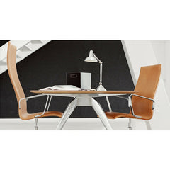 Arne Jacobsen Oxford Chair High And Medium Back Walnut Leather Arms T-No1 Table Fritz Hansen