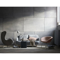 Fritz Hansen Arne Jacobsen Pot Chair in room with Egg Chair and Lune Sofa