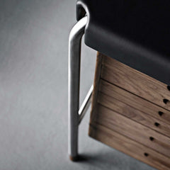Arne Jacobsen Society Table AJ52 Writing Desk Detail by Carl Hansen and Son
