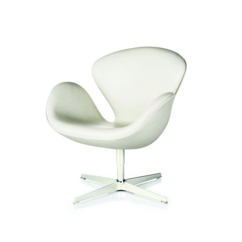 Arne Jacobsen Swan Chair White Leather Fritz Hansen
