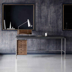 Arne Jacobsen Society Table AJ52 Writing Desk by Carl Hansen and Son in Room