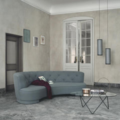 Barba Corsini Padrera Glass Coffee Table with Black Base by GUBI