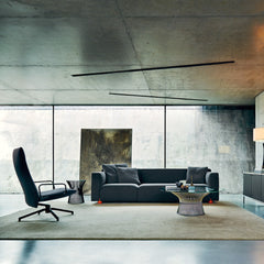 Barber Osgerby Asymmetric Sofa in Room with Platner Coffee Table