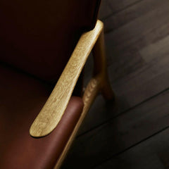 Ole Wanscher Beak Chair arm detail Carl Hansen and Son