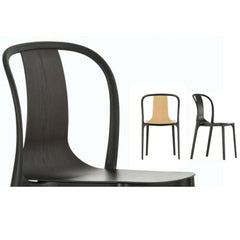 Vitra Bouroullec Belleville Chairs in Dark Oak, Natural Oak, and Black Ash