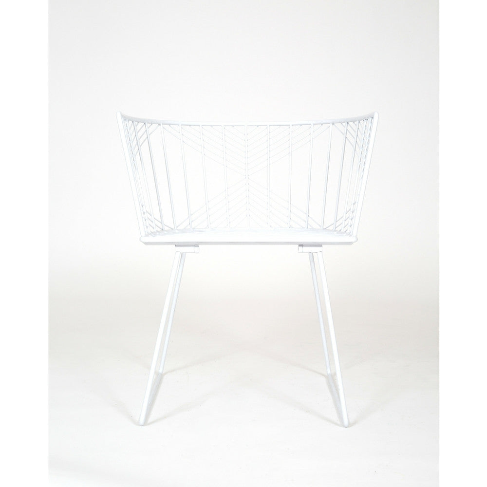 Modern captain chair - Bend White Captain Chair On White Background