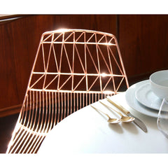 Bend Lucy Copper Chair Gleaming at Table