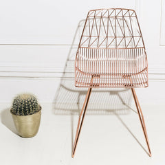 Bend Lucy Chair Copper in situ with Plant