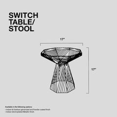 Bend Switch Stool Dimensions