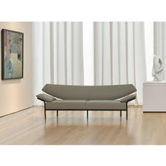 Ibis Sofa by Terry Crews for Bernhard Design in NC Art Museum with Painting and Scultpture