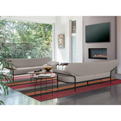 Bernhardt Design Float Coffee Table by Terry Crews in Living Room with Ibis Sofas