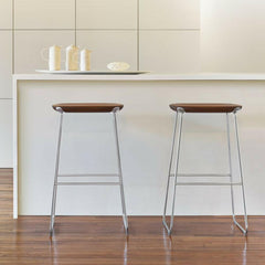 Walnut Bernhardt Design Laine Stool