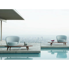 Bernhardt Design Lilypads by Terry Crews by Pool at Stahl House Los Angeles