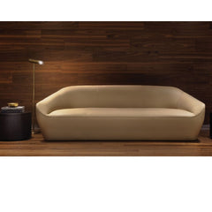 Bernhardt Design Terry Crews Becca Sofa Ivory Leather Styled