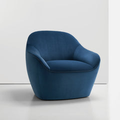 Bernhardt Design Terry Crews Becca Chair Blue Velvet