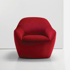 Bernhardt Design Terry Crews Becca Chair Red Velvet Front
