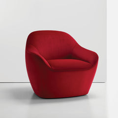 Bernhardt Design Terry Crews Becca Chair Red Velvet