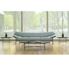 Bernhardt Design Float Coffee Table by Terry Crews in North Carolina Museum of Art with Ibis Sofa