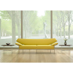 Bernhardt Design Float Side Tables by Terry Crews in NC Art Museum with Yellow Ibis Sofa