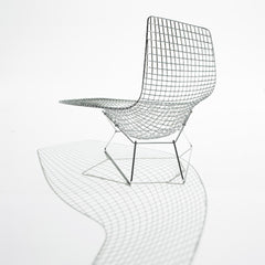 Bertoia Asymmetric Chaise from Behind with Shadow