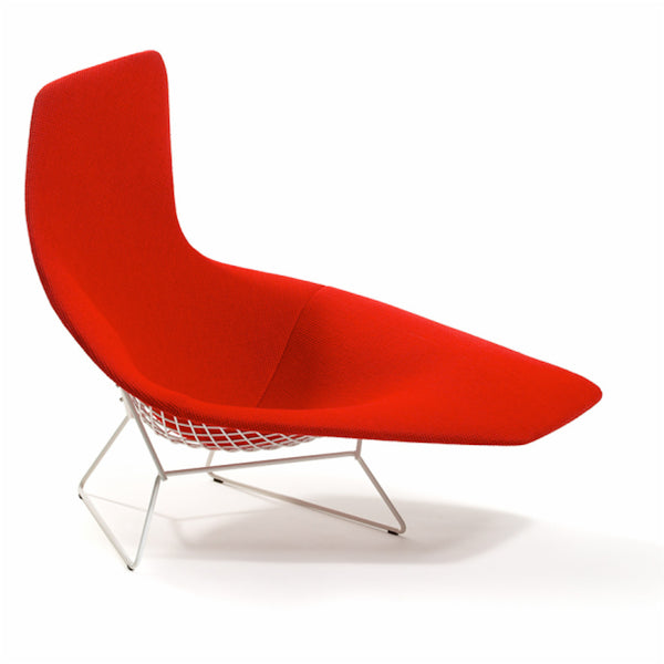 Bertoia asymmetric chaise lounge knoll modern for Bertoia chaise prix