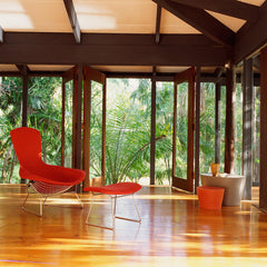 Bertoia Bird Chair in Tropical Room with Maya Lin Stones