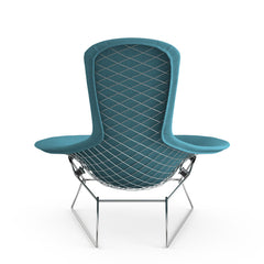 Bertoia Bird Chair from Behind with Teal Cover Knoll