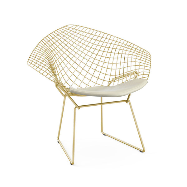 bertoia diamond chair gold knoll modern furniture palette parlor. Black Bedroom Furniture Sets. Home Design Ideas