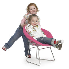 Children enjoying Bertoia Kids Diamond Chair
