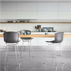 Bertoia Molded Shell Bar Stools by Knoll