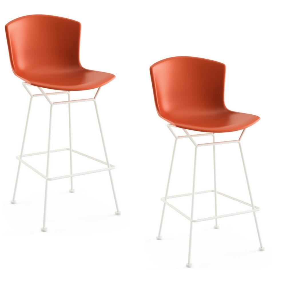 Bertoia Molded Shell Bar and Counter Stools by Knoll