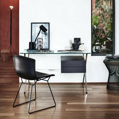 Bertoia Molded Side Chair with Albini Desk and Platner Stool from Knoll