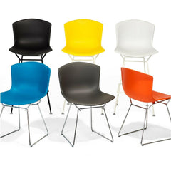 Bertoia Molded Shell Side Chairs for Knoll