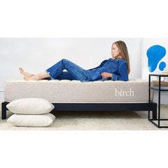 Birch Organic Mattress with woman on top