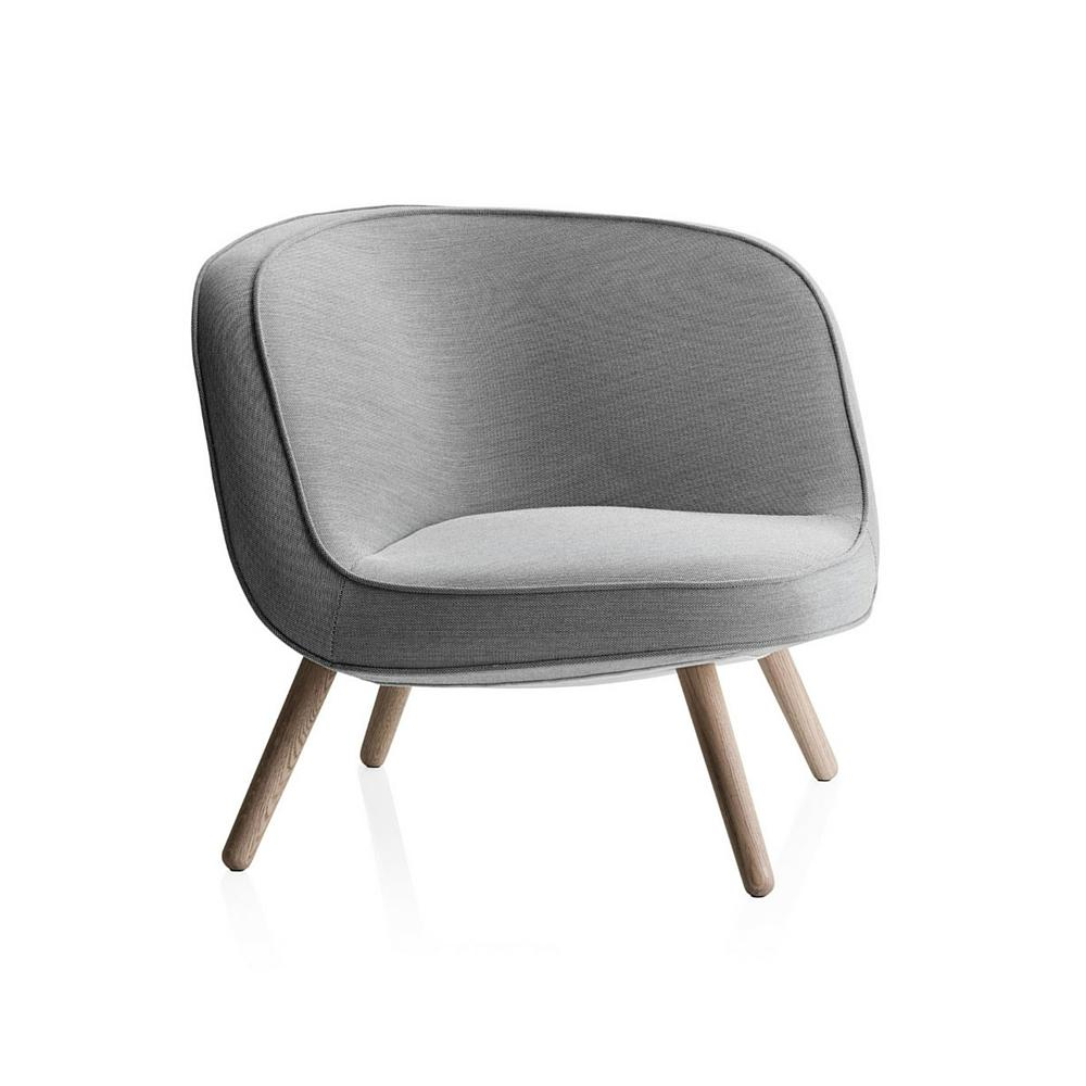 Fritz Hansen Via 57 Chair by Bjarke Ingels in Light Grey Steelcut Trio 2 124 by kvadrat
